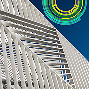 2) White Lattice Canopy Sculpture
