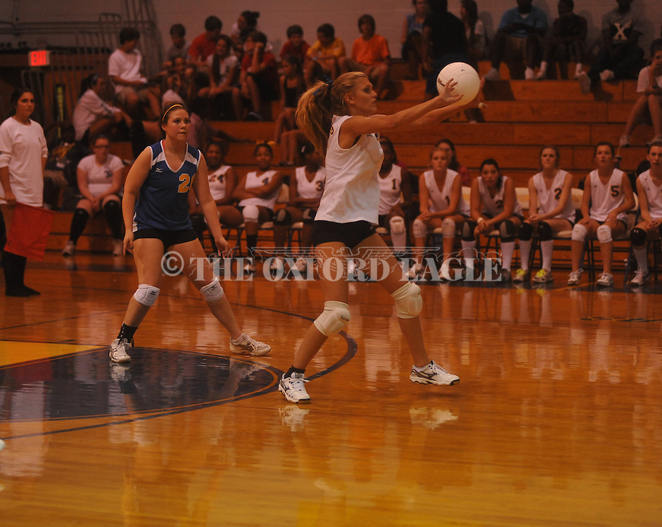 Oxford High vs. Senatobia in high school volleyball action in Oxford, Miss. on Tuesday, August 16, 2011.