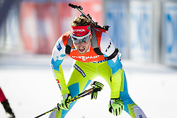 Klemen Bauer (SLO) competes during Men 12,5 km Pursuit at day 3 of IBU Biathlon World Cup 2015/16 Pokljuka, on December 19, 2015 in Rudno polje, Pokljuka, Slovenia. Photo by Ziga Zupan / Sportida