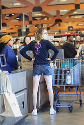 Cara Delevingne rocks a mask as she heads grocery shopping with Ashley Benson. The pair visited Erewhon in West Hollywood. 26 Mar 2020 Pictured: Cara Delevingne. Photo credit: Rachpoot/MEGA TheMegaAgency.com +1 888 505 6342