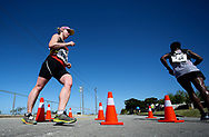 GEORGE, SOUTH AFRICA - OCTOBER 21: Natalie le Roux of KZN walks the 50km during the ASA Race Walking Championship at Pacaltsdorp on October 21, 2017 in Goerge, South Africa. (Photo by Roger Sedres/Gallo Images)