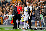 Leeds United forward Edward Nketiah (14), on loan from Arsenal, comes off the bench during the EFL Sky Bet Championship match between Millwall and Leeds United at The Den, London, England on 5 October 2019.