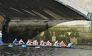 """London. ENGLAND. Saturday 26/01/2013 2013 Quintin Head, River Thames. ..Description - Imperial College IM3 passing under Chiswick Bridge...[Mandatory Credit: Peter Spurrier/Intersport Images]..[Head Race: Processional"""" Time Trial].."""