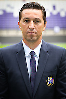 Anderlecht's head coach Besnik Hasi pictured during the 2015-2016 season photo shoot of Belgian first league soccer team RSC Anderlecht, Tuesday 14 July 2015 in Brussels.