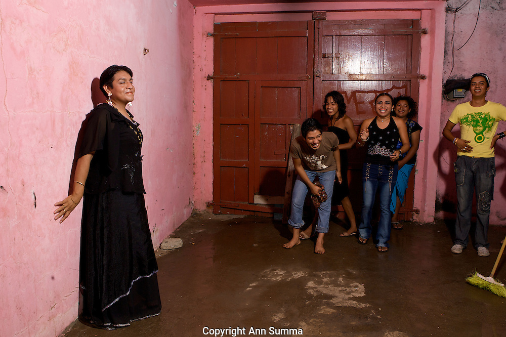 "Muxe, or transvestites, living in the Isthmus of Oaxaca, refer to themselves as the ""third sex."" The region is known for its tolerance and the matriarchal society which still exists in the Zapotec culture."