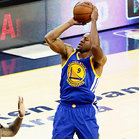 10 June 2016: Golden State Warriors forward Andre Iguodala (9) takes a jump shot during the Golden State Warriors 108-97 victory over the Cleveland Cavaliers, during Game Four of the 2016 NBA Finals at the Quicken Loans Arena, Cleveland, Ohio, USA.
