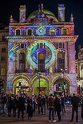 VOYAGE by<br /> Camille Gross and<br /> Leslie Epsztein in Piccadilly Circus - Lumiere London is a light festival that takes place over four evenings, from Thursday 18 to Sunday 21 January 2018. It showcases the capital's architecture and streets, with more than 50 works created by leading UK and international artists. The free outdoor festival returns to London for the second time following the success of the first edition in January 2016, which attracted an estimated 1.3 million visits. The 2018 edition has an expanded footprint extending north to south, from King's Cross, through Fitzrovia, Mayfair, and London's West End, to Trafalgar Square, Westminster, Victoria, South Bank and Waterloo. Lumiere is produced by Artichoke, the UK's leading producer of outdoor art events.