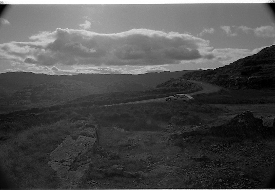 Scenes of Cork and Kerry..1986..02.09.1986..09.02.1986..2nd September 1986..Pictures of a series of scenic shots taken in the Cork / Kerry region of Ireland..If you know the locations or the history of these areas why not contact us at the web site www.irishphotoarchive.ie or e-mail us at irishphotoarchive@gmail.com...Image of a rugged and barren landscape in the Cork / Kerry region of Ireland.