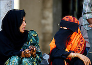 Two Veiled Women Chatting, Sanaa, Yemen