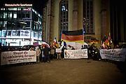 Frankfurt am Main | 02 Feb 2015<br /> <br /> Am Montag (02.02.2015) demonstrierten in Frankfurt an der Hauptwache etwa 60 PEGIDA-Anh&auml;nger mit teils extrem rassistischen Reden und Parolen z.B: gegen &quot;Islamisierung&quot;, an den Aktionen gegen die Rechtsextremisten nahmen mehrere tausend Menschen teil.<br /> Hier: PEGIDA-Demo, &Uuml;bersicht.<br /> <br /> &copy;peter-juelich.com<br /> <br /> [No Model Release | No Property Release]