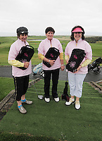 Catherine Owens Anne Greene and Regina Power from Ballinasloe Golf Club at the Galway Golf Club for the AIB Ladies Irish Open Club Challenge qualifier..Photo:Andrew Downes