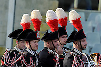Florence, Italy -In the photo band of army Carabinieri.Artemio Franchi stadium in Florence Rugby test match Cariparma.Italy vs Australia. (Credit Image: © Gilberto Carbonari).