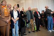 Avduking av Jens Johannessens utsmykning ved Selbu videregående skole. Et oljemaleri på 30 m2.