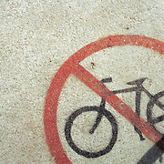 """No Bicycles"" sign. Bike-tography by Martha Retallick."