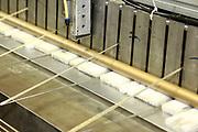 D&uuml;ren. 15.03.17 | BILD- ID 034 |<br /> GKD - Gebr. Kufferath AG. Metallfassade f&uuml;r die Neue Mannheimer Kunsthalle.<br /> Das Unternehmen in D&uuml;ren produziert Fassaden f&uuml;r die Architektur aus Metall. Ein gewebtes Metallgitter wird von Aussen an die Fassade montiert. <br /> Kunsthallendirektorin Dr. Ulrike Lorenz besucht das Unternehmen in D&uuml;ren und freut sich &uuml;ber die technische Umsetzung mit einer speziell goldenen Pigmentierung der Edelstahlstreben.<br /> Bild: Markus Prosswitz 15MAR17 / masterpress (Bild ist honorarpflichtig - No Model Release!)