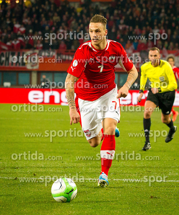 22.03.2013, Ernst Happel Stadion, Wien, AUT, FIFA WM Qualifikation, Oesterreich vs Faeroeer, im Bild Marko Arnautovic, (AUT, #7)// during the FIFA World Cup Qualifier Match between Austria and Faroe Islands at the Ernst Happel Stadium, Vienna, Austria on 2013/03/22. EXPA Pictures © 2013, PhotoCredit: EXPA/ Sebastian Pucher
