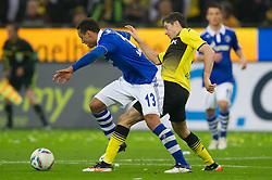 26.11.2011, Signal Iduna Park, Dortmund, GER, 1. FBL, Borussia Dortmund vs FC Schalke 04, im Bild Zweikampf Jermaine Jones (#13 Schalke) - Robert Lewandowski (#9 Dortmund) // during Borussia Dortmund vs. FC Schalke 04 at Signal Iduna Park, Dortmund, GER, 2011-11-26. EXPA Pictures © 2011, PhotoCredit: EXPA/ nph/ Kurth..***** ATTENTION - OUT OF GER, CRO *****