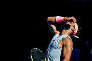 MELBOURNE, VIC - JANUARY 17: Rafael Nadal of Spain shows his dismay in his second round match during the 2018 Australian Open on January 17, 2018, at Melbourne Park Tennis Centre in Melbourne, Australia. (Photo by Jason Heidrich/Icon Sportswire)MELBOURNE, VIC - JANUARY 17: MELBOURNE, VIC - JANUARY 17: