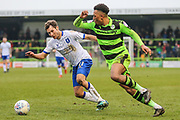 Forest Green Rovers Tahvon Campbell(25) runs forward during the EFL Sky Bet League 2 match between Forest Green Rovers and Mansfield Town at the New Lawn, Forest Green, United Kingdom on 24 March 2018. Picture by Shane Healey.