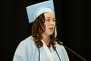Johannah Brinkman delivers a valedictory address during the Fairborn High School commencement at the Nutter Center in Fairborn, Friday, May 27, 2010.
