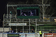 General view of the temporary television studio erected for the FA Cup match at the Cherry Red Records Stadium, Kingston<br /> Picture by David Horn/Focus Images Ltd +44 7545 970036<br /> 05/01/2015