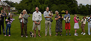 central 3: Julia Nicholas ( with Bluebell), Brian Lowry ( Alfie)  Paul Pleasance ( Barbie) Owners and pugs lookalike competition. Pug Dog club Tea party held at Cottesbrook Hall.  ( home of  Mr. and Mrs. Alastair Macdonald-Buchanan ) 26 June 2005. . ONE TIME USE ONLY - DO NOT ARCHIVE  © Copyright Photograph by Dafydd Jones 66 Stockwell Park Rd. London SW9 0DA Tel 020 7733 0108 www.dafjones.com