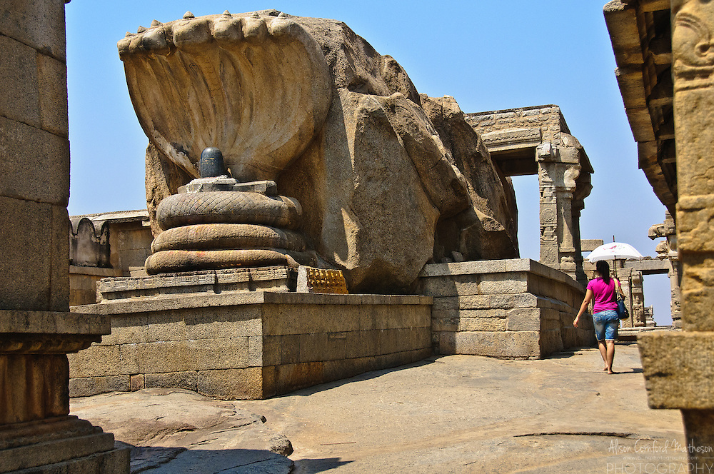 The Shiva Lingam in the  Veerabhadra temple in Lepakshi, India.