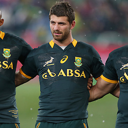 PRETORIA, SOUTH AFRICA - AUGUST 16: Cornal Hendricks of South Africa with Willie le Roux of South Africa and Bryan Habana of South Africa during The Castle Rugby Championship match between South Africa and Argentina at Loftus Versfeld on August 16, 2014 in Pretoria, South Africa. (Photo by Steve Haag/Gallo Images)
