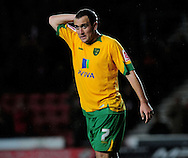 Southampton - Tuesday, September 30th, 2008: Lee Croft of Norwich City shows dejection  during the Coca Cola Championship match at Southampton. (Pic by Daniel Hambury/Focus Images)