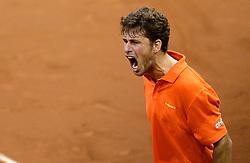 12-09-2014 NED: Davis Cup Nederland - Kroatie, Amsterdam<br /> Robin Haase wint de tweede partij en zet Nederland weer op gelijke hoogte 1-1