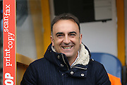 Sheffield Wednesday head coach Carlos Carvalhal  during the Sky Bet Championship match between Huddersfield Town and Sheffield Wednesday at the John Smiths Stadium, Huddersfield, England on 2 April 2016. Photo by Simon Davies.