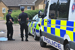 &copy; Licensed to London News Pictures. 31/07/2018<br /> KEMSLEY, UK.<br /> A man has been arrested on suspicion of murder after a woman's body is found at a property in Hurst Lane, Kemsley near Sittingbourne. Police had to smash a window to get access to the property, police are on scene. <br /> Photo credit: Grant Falvey/LNP