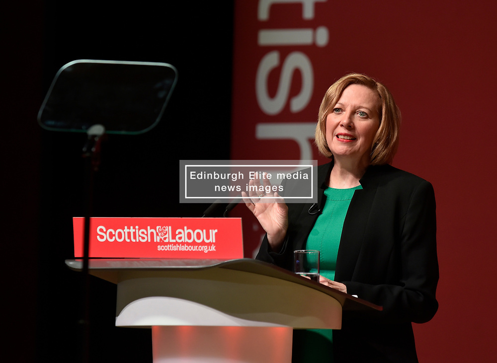 Pictured: Scottish Labour deputy leader and shadow Scottish Secretary Lesley Laird speaks to conference.<br /> <br /> The Scottish Labour Party spring conference opened in Dundee on Friday, where Scottish Labour leader Richard Leonard joined delegates and party activists.<br /> <br /> <br /> © Dave Johnston / EEm