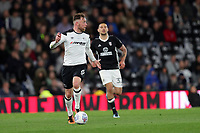 DERBY, ENGLAND - MAY 11: - DCFC vs Fulham. Richard Keogh, brings the ball out of defence