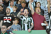 Plymouth fans during the Sky Bet League 2 play off first leg match between Plymouth Argyle and Portsmouth at Home Park, Plymouth, England on 15 May 2016. Photo by Graham Hunt.