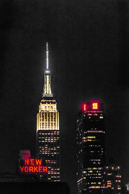 Empire State Building at night, New York, New York USA.