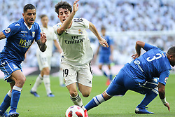 December 6, 2018 - Madrid, Madrid, Spain - Odriozola of Real Madrid in action during the King Throphy Spanish Championship,  football match between Real Madrid and Melilla on December 06, 2018 at Santiago Bernabeu stadium  in Madrid, Spain. (Credit Image: © AFP7 via ZUMA Wire)