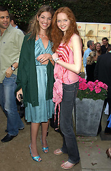 Left to right, MICHELE BAROUH and Model LILY COLE at Michele Watches Kaleidoscope Summer Garden Party held at Home House, Portman Square, London on 15th June 2005.<br /><br />NON EXCLUSIVE - WORLD RIGHTS