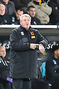 Hull City manager Steve Bruce during the Sky Bet Championship match between Hull City and Derby County at the KC Stadium, Kingston upon Hull, England on 27 November 2015. Photo by Ian Lyall.