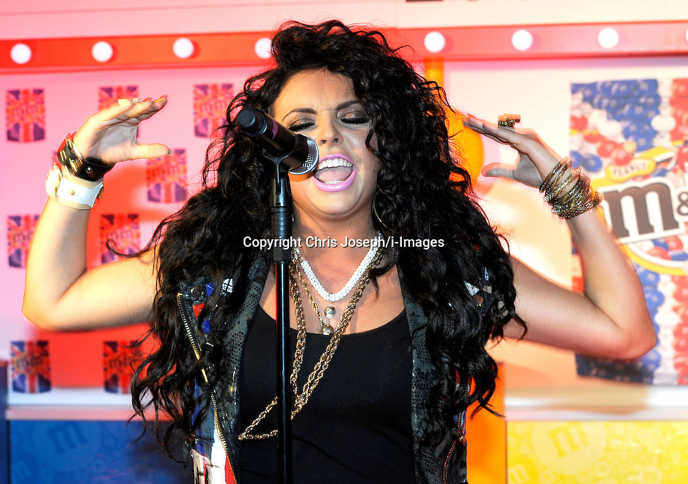 Jesy Nelson of Little Mix Perform at the M&M Store, Leicester square, London. Thursday May 24, 2012. Photo By Chris Josepth/i-Images