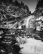 Cameron Falls in early winter. Waterton Lakes National Park