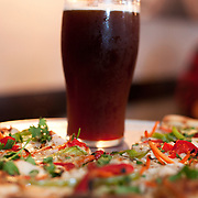 pizza and beer at 10 Barrel Brewery