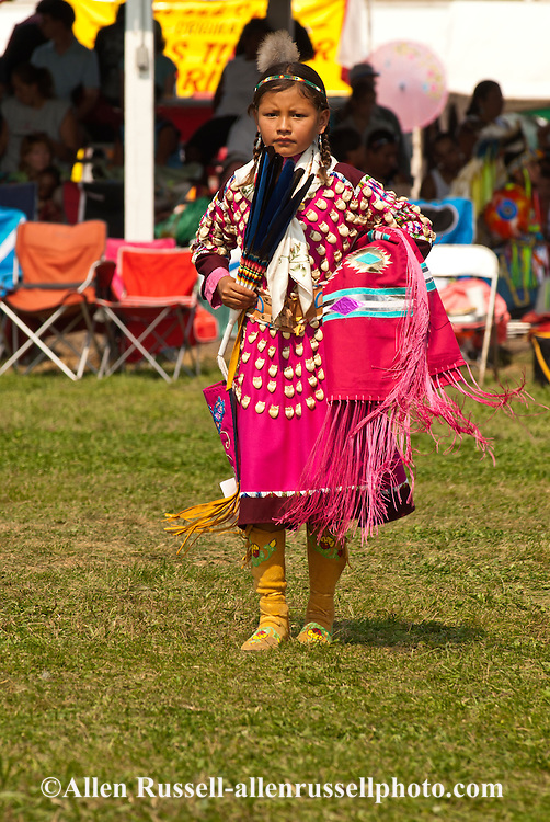 Crow Fair, powwow, Traditional Dancer, kids, Crow Indian Reservation, Montana