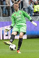 21-08-2016: Voetbal: FC Utrecht v AZ: Utrecht<br /> <br /> (L-R) FC Utrecht keeper Robbin Ruiter tijdens het Eredivsie duel tussen FC Utrecht en AZ Alkmaar in stadion Galgenwaard te Utrecht op 21 augustus tijdens speelronde 3<br /> <br /> Eredivisie - Seizoen 2016 / 2017<br /> <br /> Foto: Gertjan Kooij