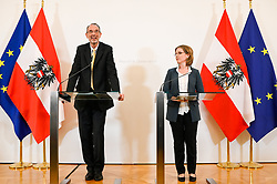 12.02.2020, Bundeskanzleramt, Wien, AUT, Bundesregierung, Sitzung des Ministerrats, im Bild Bildungsminister Heinz Faßmann (ÖVP) und Verkehrsministerin Leonore Gewessler (Grüne) // Austrian Minister for Education and Science Heinz Fassmann and Austrian Minister for Transport, Innovation and Technology Leonore Gewessler during cabinet meeting at federal chancellors office in Vienna, Austria on 2020/02/12, EXPA Pictures © 2020, PhotoCredit: EXPA/ Michael Gruber