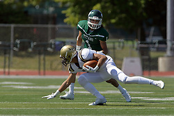 09 September 2017:  Jacob VanLiew, Trevor Koepke during an NCAA division 3 football game between the Nebraska Wesleyan PRAIRIE WOLVES and the Illinois Wesleyan Titans in Tucci Stadium on Wilder Field, Bloomington IL