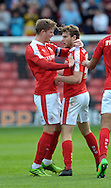 Sam Winnall (right) of Barnsley is congratulated on his equaliser against Shrewsbury Town during the Sky Bet League 1 match at Oakwell, Barnsley<br /> Picture by Graham Crowther/Focus Images Ltd +44 7763 140036<br /> 05/09/2015