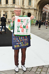 Bob and Roberta Smith (Patrick Brill) at the Royal Academy of Arts Summer Exhibition Preview Party at The Royal Academy of Arts, Burlington House, Piccadilly, London on 7th June 2016.