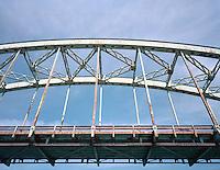 Old arch bridge over Connecticut River at Brattleboro, VT