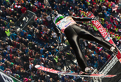 Jurij Tepes of Slovenia soars through the air during the Ski Flying Individual Qualification at Day 1 of FIS World Cup Ski Jumping Final, on March 19, 2015 in Planica, Slovenia. Photo by Vid Ponikvar / Sportida